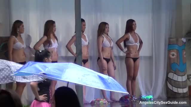Angeles City Sexy Filipino Bar Girls Wet T-Shirt Contest Pool Party